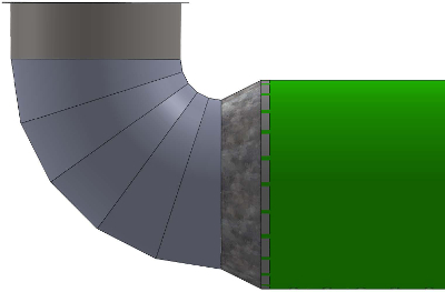 Elbow with Fab Duct